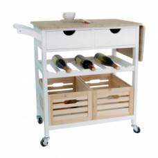 Servírovací stolek na kolečkách PASSAT bílá - TempoKondela