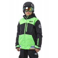 Picture CODE BLACK/NEON GREEN dětská zimní bunda - 16T