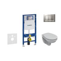 Geberit Sada pro závěsné WC + klozet a sedátko softclose Ideal Standard Quarzo - sada s tlačítkem Sigma30, matný/lesklý/matný chrom 111.300.00.5 ND7