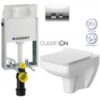 GEBERIT - SET KOMBIFIXBasic včetně ovládacího tlačítka DELTA 50 CR pro závěsné WC CERSANIT CLEANON SPLENDOUR + SEDÁTKO (110.100.00.1 50CR SP1)