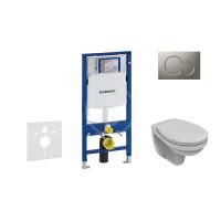 Geberit Sada pro závěsné WC + klozet a sedátko softclose Ideal Standard Quarzo - sada s tlačítkem Sigma01, matný chrom 111.300.00.5 ND3