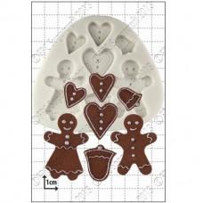 Silikonová forma na marcipán - Gingerbread People (Perníkové postavičky)