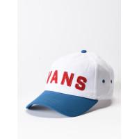 Vans DUGOUT WHITE/SAPPHIRE BL/TANGO R baseball čepice