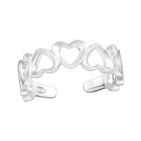 OLIVIE Srdíčkový prsten NA NOHU 4003