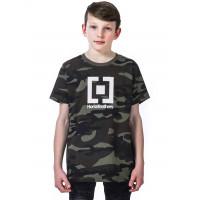 Horsefeathers BASE WOODLAND dětské tričko s krátkým rukávem - M