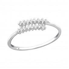 OLIVIE Stříbrný prsten s kubickými zirkony 0951 Velikost prstenů: 6 (EU: 51 - 53)