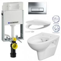 GEBERIT - SET GEBERIT - KOMBIFIXBasic včetně ovládacího tlačítka DELTA 51 CR pro závěsné WC PARVA CLEAN ON + SEDÁTKO (110.100.00.1 51CR PA2)