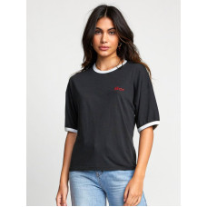 RVCA SCRYPT black dámské tričko s krátkým rukávem - S