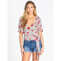 Billabong NEW LUST WHITE CAP dámské tričko s krátkým rukávem - S