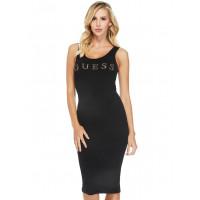 GUESS šaty Nivella Logo Midi Dress černé vel. S