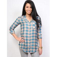 RVCA YORK SIMPLY TAUPE dámská košile dlouhý rukáv - S