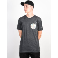 RVCA VAUGHN black pánské tričko s krátkým rukávem - L