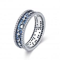 OLIVIE Stříbrný prsten HVĚZDNÁ OBLOHA 3391 Velikost prstenů: 6 (EU: 51 - 53)