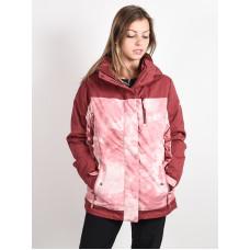 Roxy JETTY BLOCK SILVER PINK TIE DYE zimní bunda dámská - L