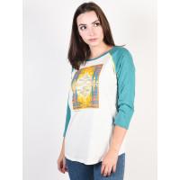 Burton ASHMORE STOWHT/GBSLAT dámské tričko s dlouhým rukávem - L