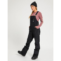 Burton AVALON BIB TRUE BLACK zateplené kalhoty dámské - S