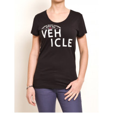 Vehicle BALDNESS black dámské tričko s krátkým rukávem - XS