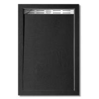 BLACK STAR sprchová vanička z litého mramoru, obdélník, 110x80x3 cm