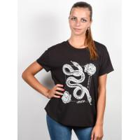RVCA LOVE SURVIVAL PIRATE BLACK dámské tričko s krátkým rukávem - M