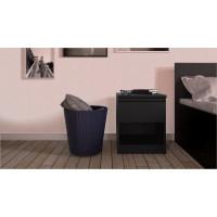 Noční stolek Naia 71082 černý mat - TVI