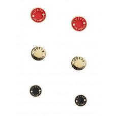 GUESS náušnice Enamel Logo Button Stud Earrings zlaté vel. P2442462368A