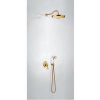 TRES - Sprchová sada vestavnás uzávěrem a regulací průtoku. Včetně podomítkového tělesa Pevná sprcha O 310 mm. s kloubem. (24218003OR)