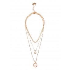 GUESS náhrdelník Gold-tone Layered Logo Mosaic Necklace vel. P2770861591A