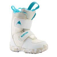 Burton MINI - GROM white dětské boty na snowboard - 8USk