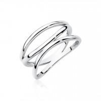 OLIVIE Stříbrný prsten se třemi liniemi 2194 Velikost prstenů: 8 (EU: 57 - 58)