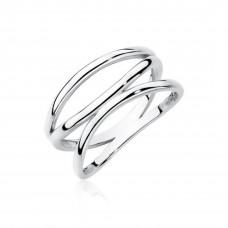 OLIVIE Stříbrný prsten se třemi liniemi 2194 Velikost prstenů: 6 (EU: 51 - 53)