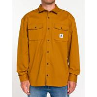 Element BUILDER REPREVE GOLD BROWN pánská košile dlouhý rukáv - M
