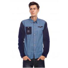 Picture Jeffrey JEAN/DARK BLUE pánská košile dlouhý rukáv - S