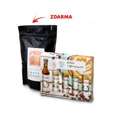 Monin Coffee box MINI 5 x 50 ML plus zrnková káva zdarma