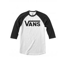 Vans CLASSIC white/black dětské tričko s dlouhým rukávem - M