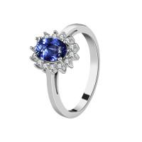 OLIVIE Stříbrný prsten SAFÍR 2970 Velikost prstenů: 8 (EU: 57 - 58)