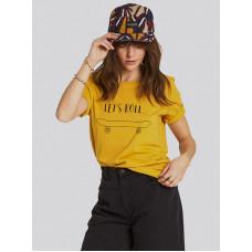Element LET'S ROLL GOLD dámské tričko s krátkým rukávem - XS