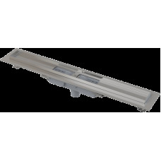 Alcaplast APZ1101-650-LOW podlahový žlab v.55mm SNÍŽENÝ svislý odtok kout min. 700mm (APZ1101-650)