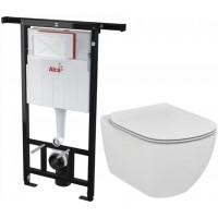 ALCAPLAST - SET Jádromodul - předstěnový instalační systém + WC TESI (AM102/1120 X TE3)