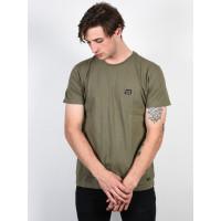 Billabong NOWS THE TIME MILITARY pánské tričko s krátkým rukávem - L