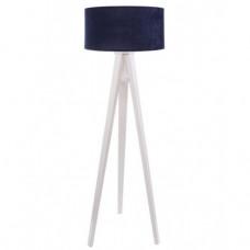Timberlight Stojací lampa Luna modrá + bílý vnitřek + bílé nohy