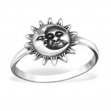 OLIVIE Stříbrný prsten SUN AND MOON 1195 Velikost prstenů: 6 (EU: 51 - 53)