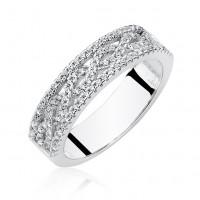 OLIVIE Stříbrný prsten se zirkony 2652 Velikost prstenů: 9 (EU: 59 - 61)