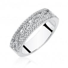 OLIVIE Stříbrný prsten se zirkony 2652 Velikost prstenů: 6 (EU: 51 - 53)