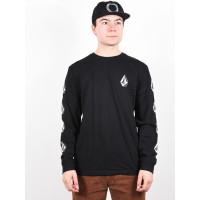 Volcom Deadly Stone Rlx black pánské tričko s krátkým rukávem - XL