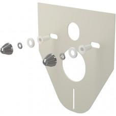 ALCAPLAST - Tlumící izolační deska záv.WC,bidet, CHROM krytky a průchodky, zkosená M910CR (M910CR)