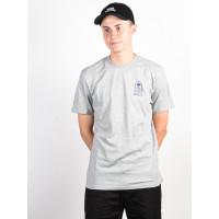 RVCA BAD PALMS HEATHER GREY pánské tričko s krátkým rukávem - M