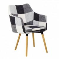 jídelní židle LANDOR bílá/černá - TempoKondela