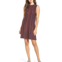 RVCA FOOLISH FEDERAL BLUE společenské šaty krátké - S