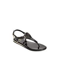 GUESS sandálky Carmela T-Strap Sandals hadí černé vel. 40