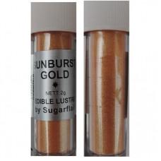 Sugarflair Jedlá prachová perleťová barva Sunburst gold (Slunečně zlatá), 2g